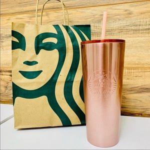 Starbucks Holiday 2019 Rose Gold Tumbler